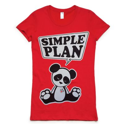 Panda Red Girls Tshirt