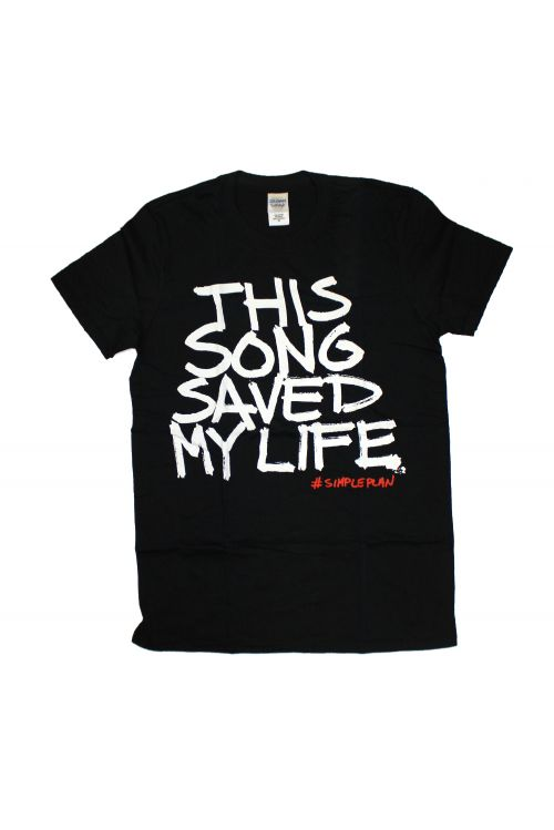 This Song Saved My Life Black Tshirt by Simple Plan