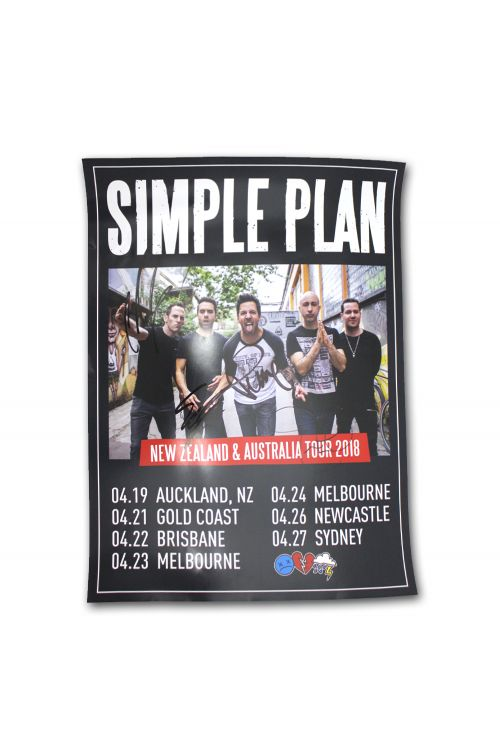 Signed Poster 2018 Australian Tour (Limited) by Simple Plan