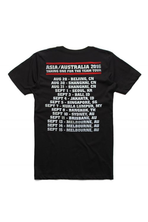 Black 2016 Event Tshirt w dates by Simple Plan