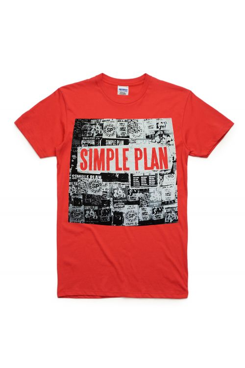 Red Square Tshirt by Simple Plan