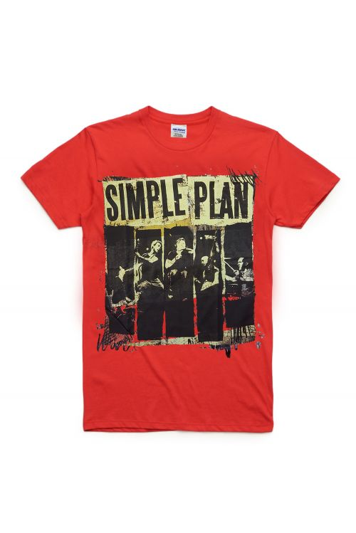 Red Australian Tour 2012 Tshirt by Simple Plan
