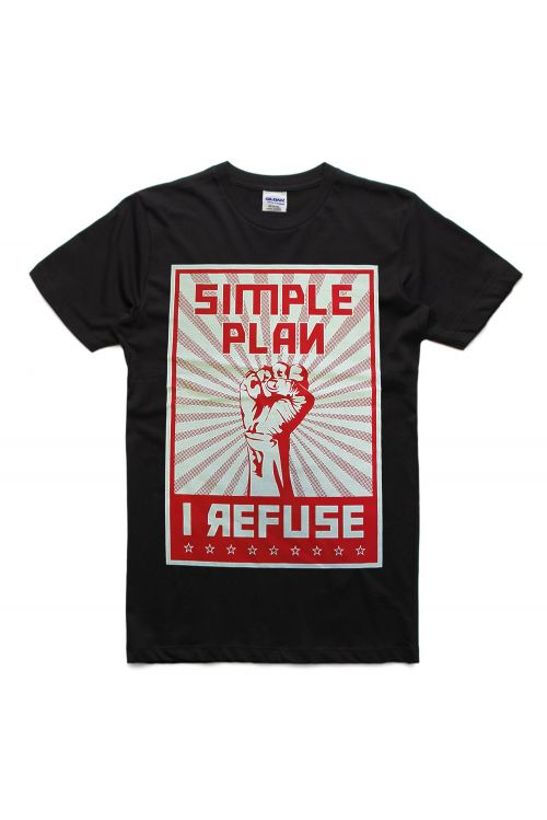 Refuse Black Tshirt by Simple Plan