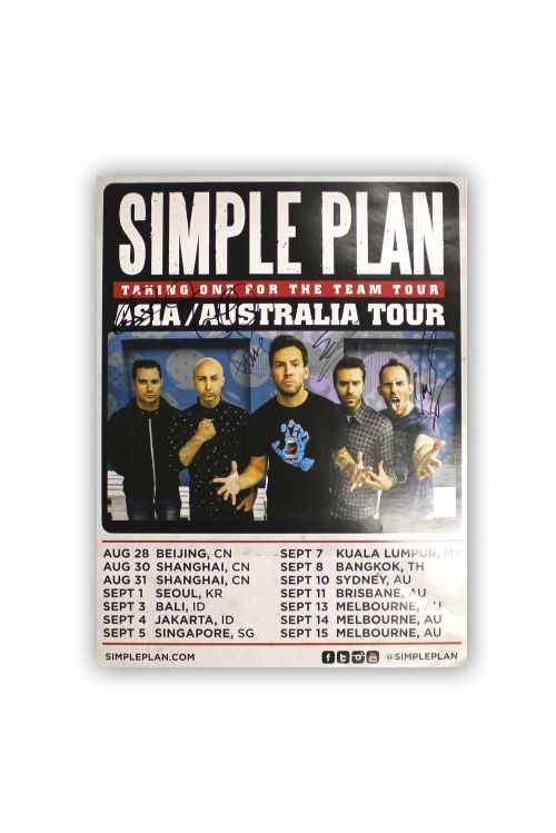 Limited Edition Poster SIGNED limited by Simple Plan