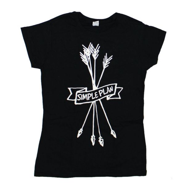 Arrows Girls Black Tshirt
