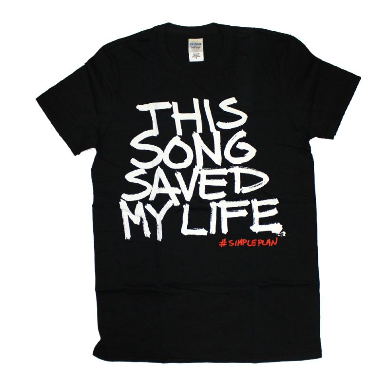 This Song Saved My Life Black Tshirt